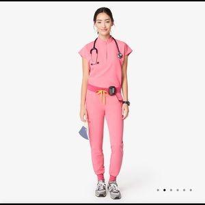 NWT NEON pink FIGS scrubs set